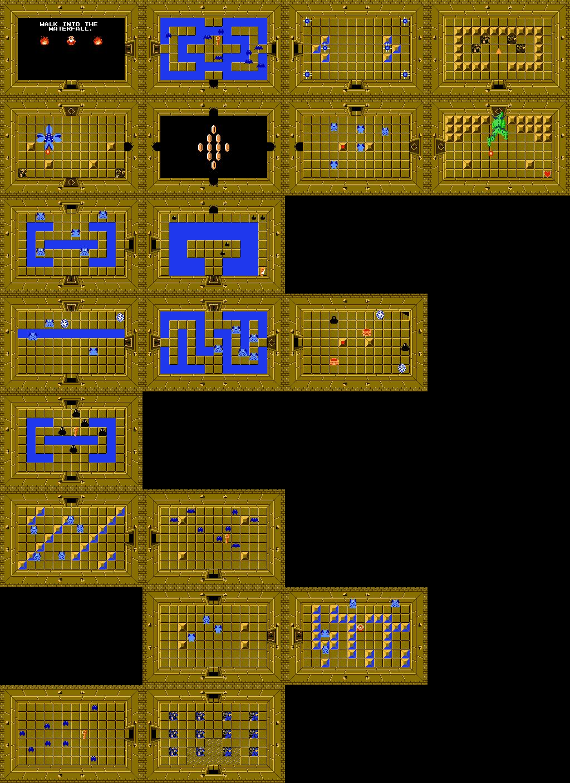 Zelda Map With Secrets : zelda, secrets, Legend, Zelda, Walkthrough, Level, Snake, Dungeon