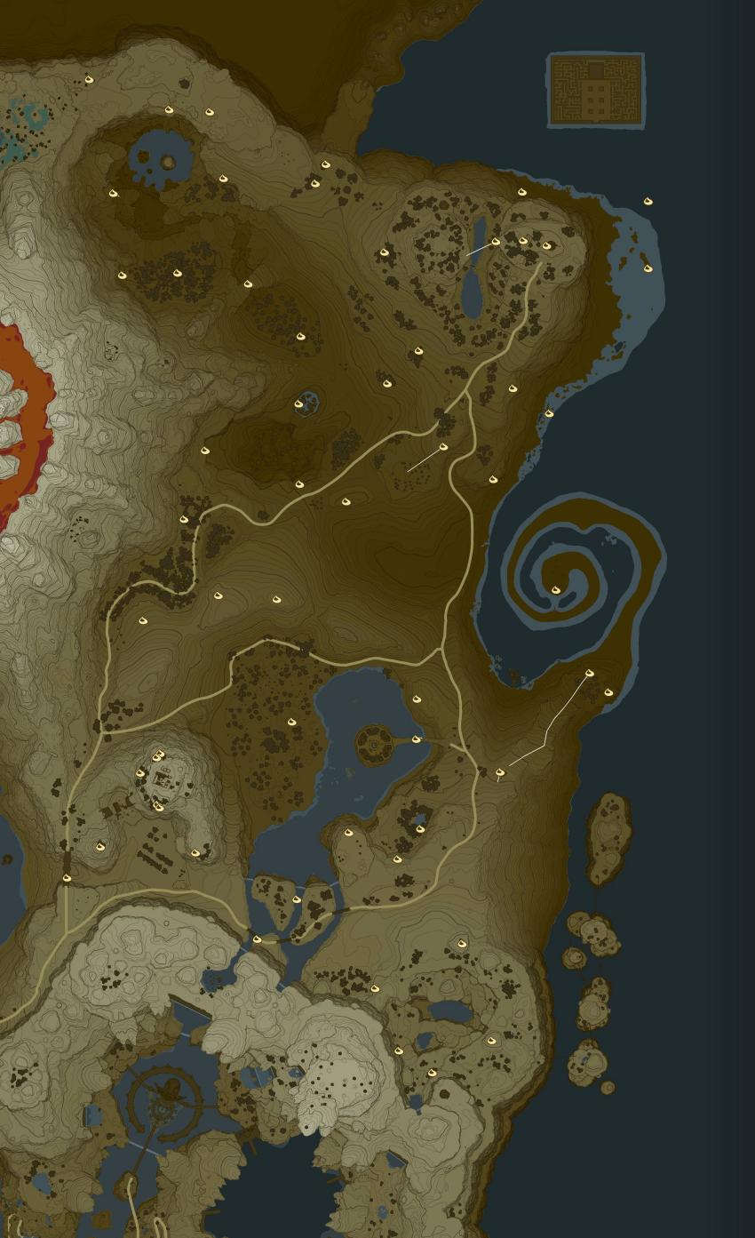 Korok Forest Map : korok, forest, Akkala, Korok, Locations, Zelda, Dungeon