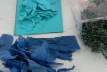 Hand-torn paper for papermaking