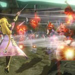 Fi wields her Goddess Blade and Zelda uses her Baton in English Hyrule Warriors trailers