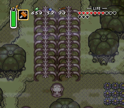 Step Two Head up and then back down through the tunnels of bones.