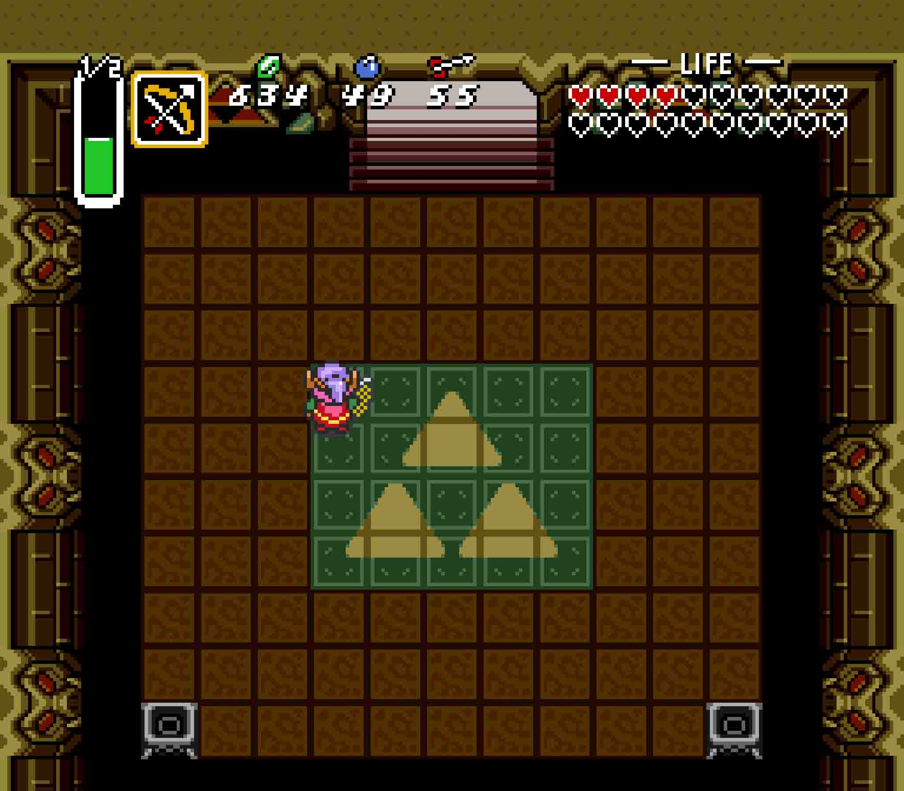 Don't get cocky because you've destroyed Ganon. Falling down now means having to do it all over again.