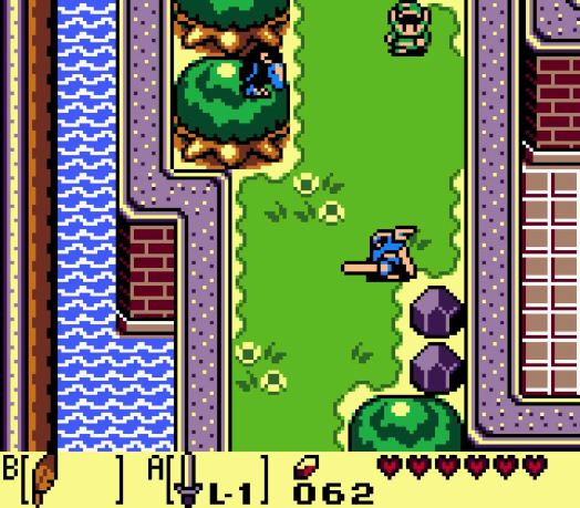 Step Two On the western side of the castle is this Darknut with a sword as well as a Crow. The Crow, surprisingly, is the enemy holding the Leaf, but it won't just swoop you like normal. Instead, you'll need to provoke it by tossing one of the rocks at it.