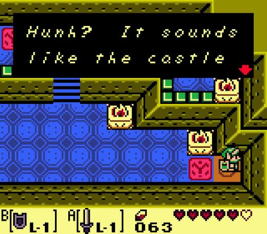 Step Four Two rooms further in, you'll discover a switch inside the castle. It will make a noise but have no immediate effect. It's actually opening up the front gate of the castle to allow you to escape more easily.