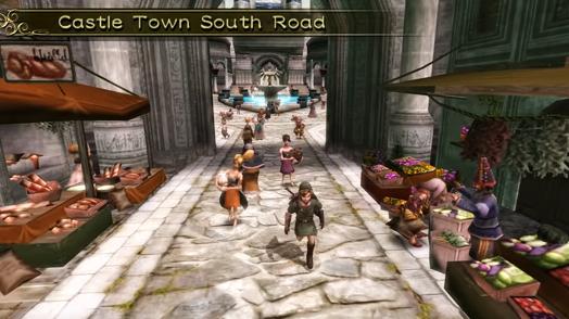 Hyrule Castle Town castle town south road