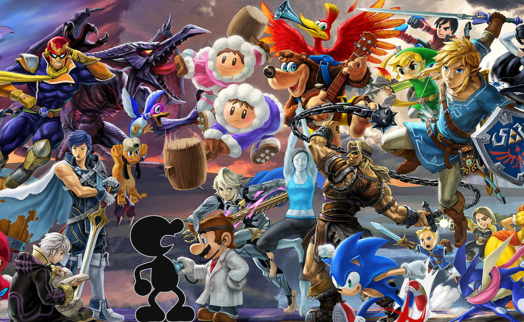 "A portion of the ""Everyone is Here"" Smash Ultimate banner"