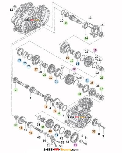 02A VW Transmission parts