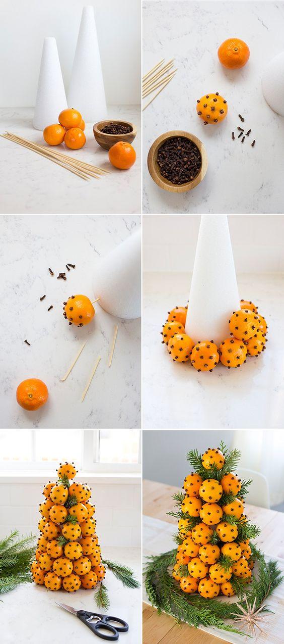 новорічний декор з цитрусових