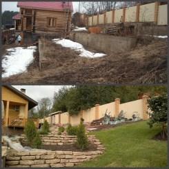 ландшафтний дизайн подвіря картинка 3 до і після
