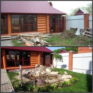 ландшафтний дизайн подвіря картинка 5 до і після