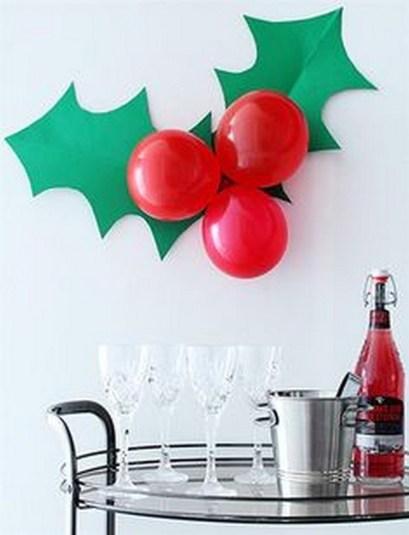 Новорічний декор з повітряних кульок