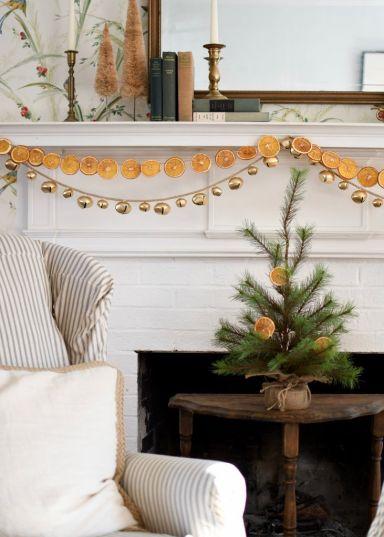 Новорічний декор з цитрусовими