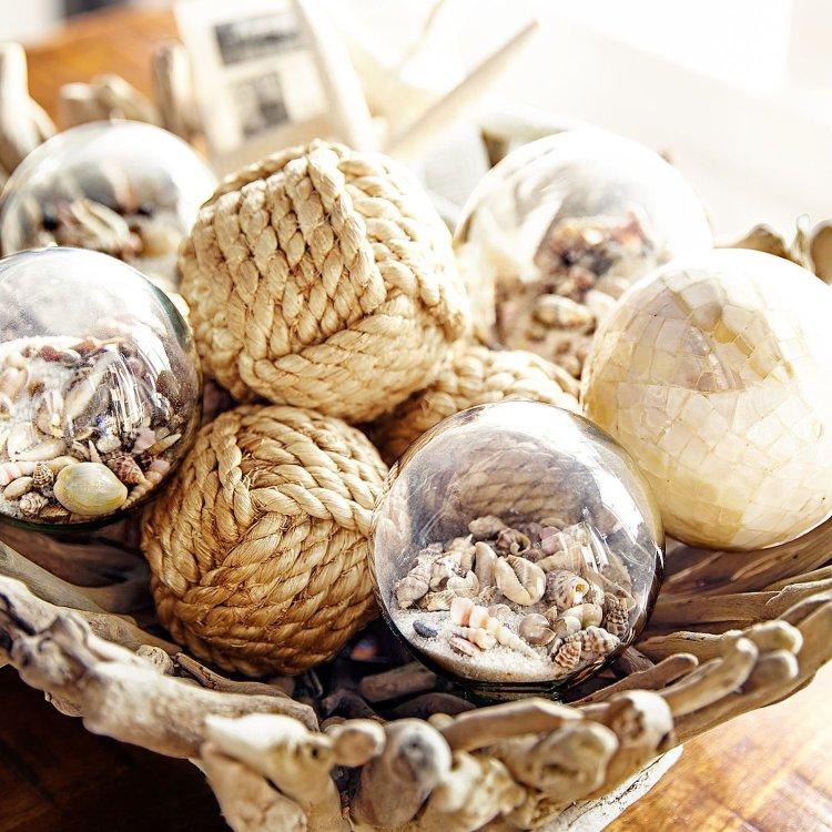 Кульки з мотузки для декору