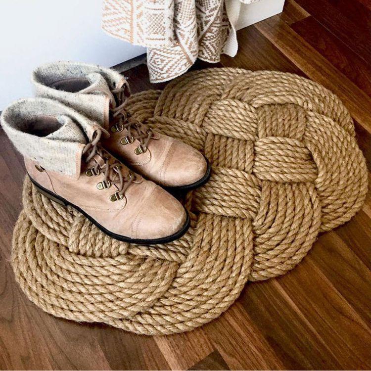 Килимок з мотузки