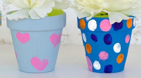 Декорування маркерів для саду та городу сердечками та кружечками