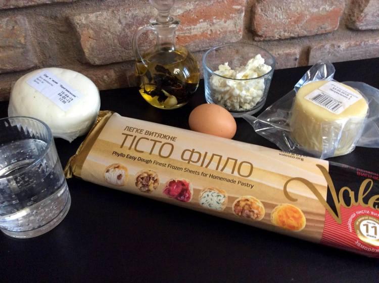 Інгредієнти для національного болгарського пирога баниця