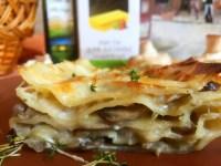 Лазанья з шампіньйонами і сиром — найпростіший варіант відомої страви