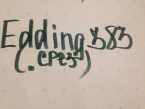 Маркер Edding артикул 383. Стрижень зрізаний