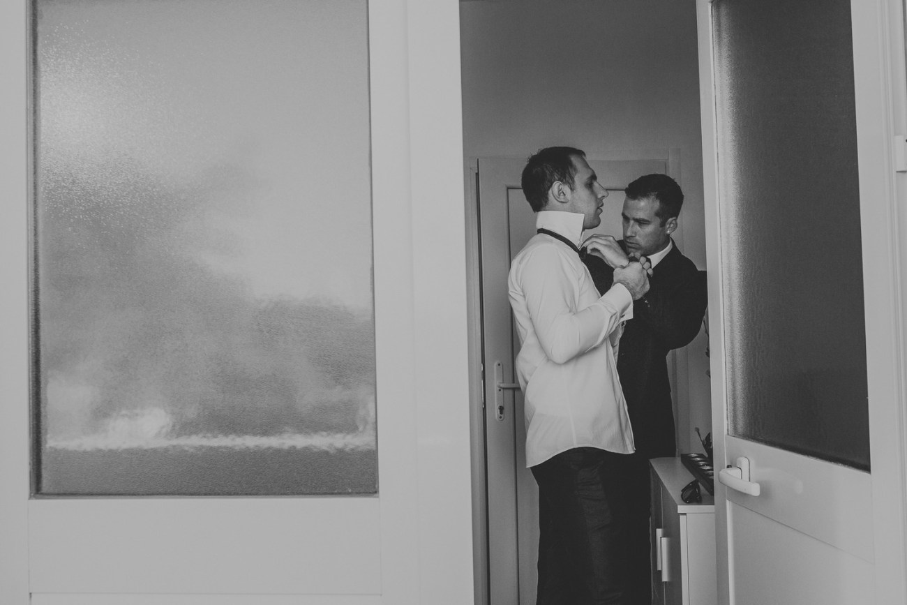 dubrovnik croatia wedding groom and best man