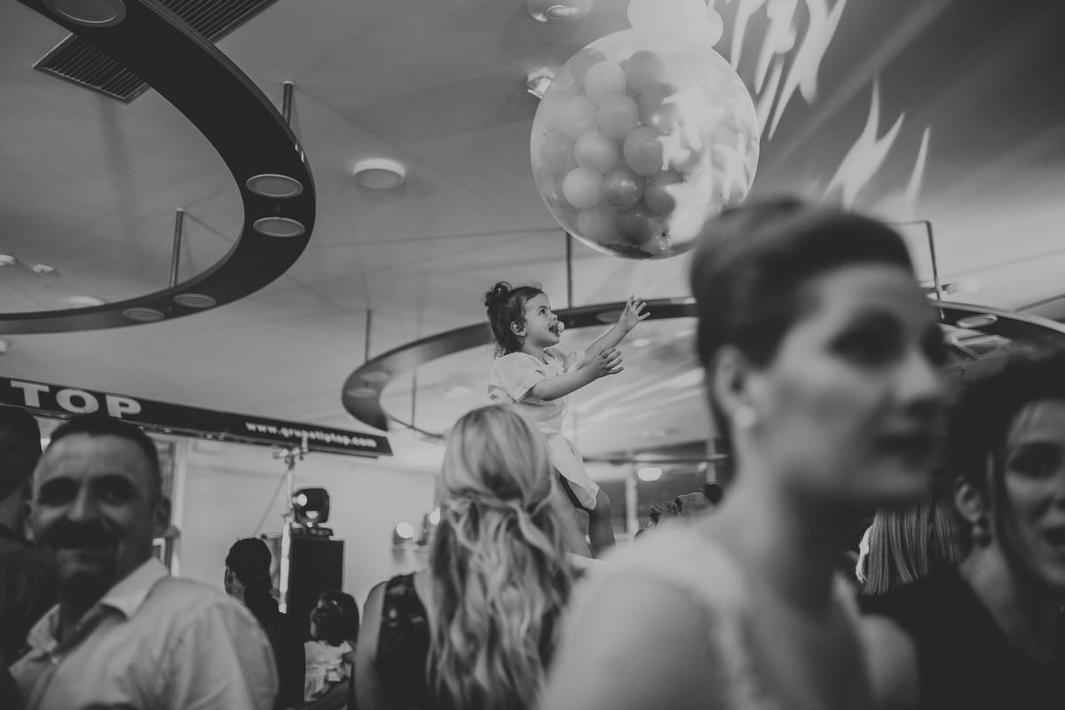 little girl baloons