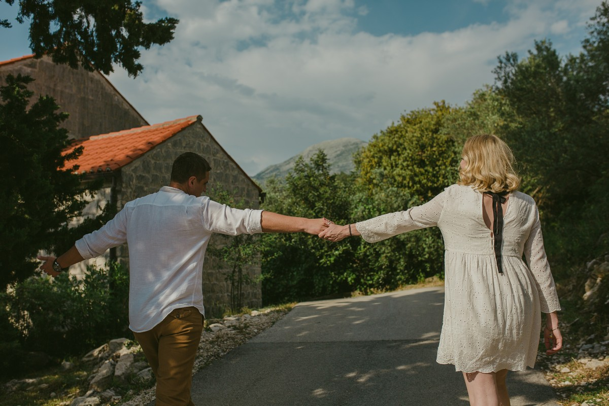happy couple engagement