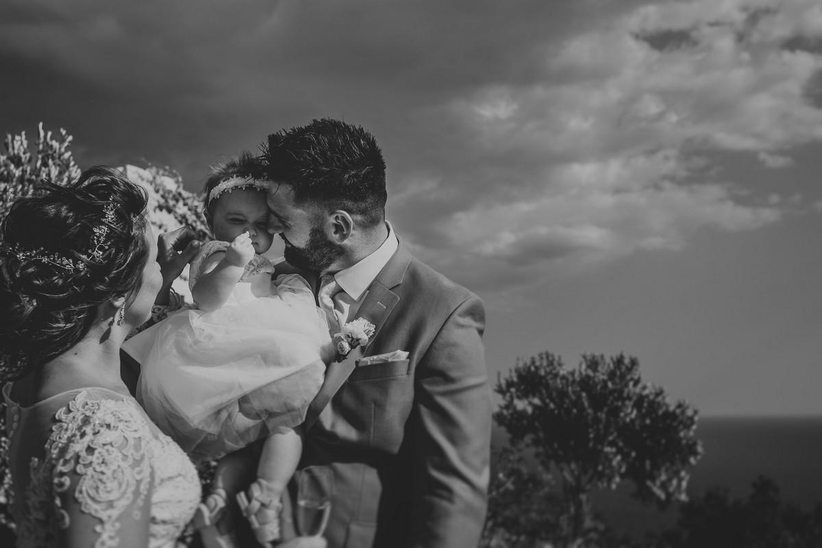 bride groom and baby park orsula