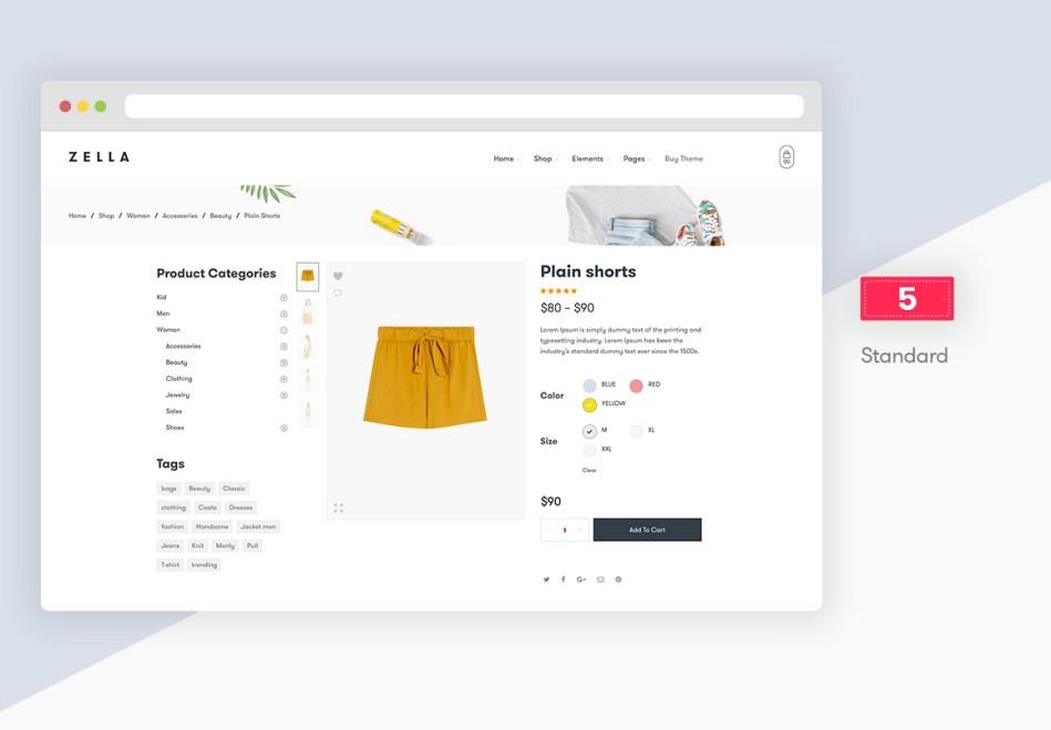 Zella - WooCommerce AJAX WordPress Theme - RTL Support - 11