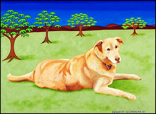 "Sammy - Oil on canvas, 18"" x 24"", 2007"