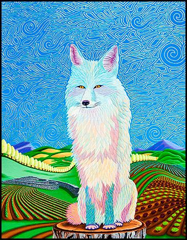"""Blue Fox - Oil on canvas, 18"""" x 24"""", 2013"""