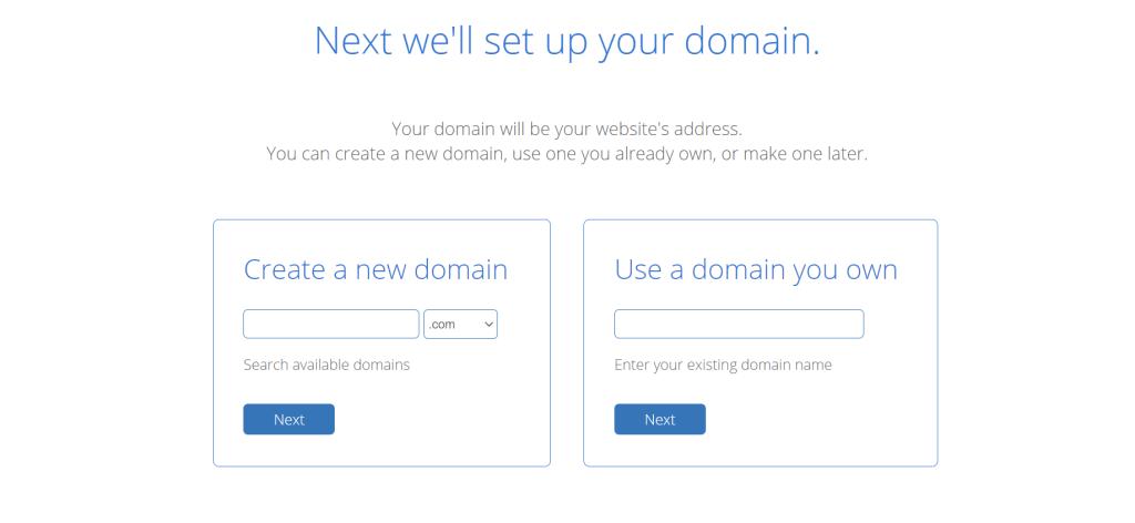 Pick domain zemash bluehost
