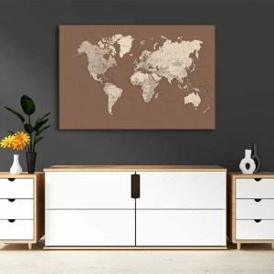 zemelapiai ant drobes, zemelapaiantdrobes, žemėlapis su smeigtukais, pasaulio žemėlapiai ant sienos7