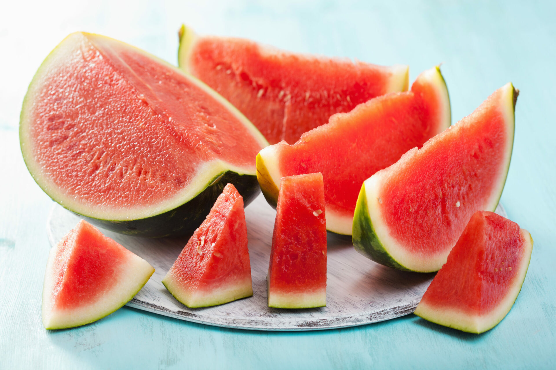 red watermelon slices summer fruit GY6FW7A scaled