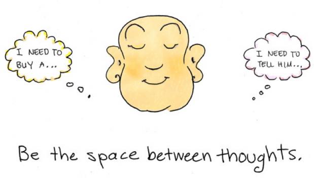 Lücke zwischen zwei Gedanken