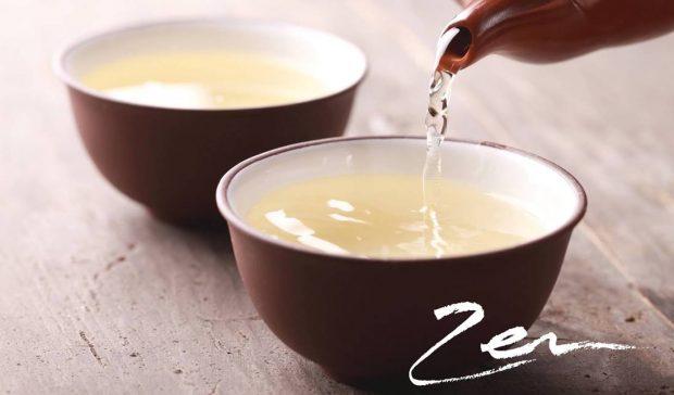 Teezeremonie zwei Tassen Tee