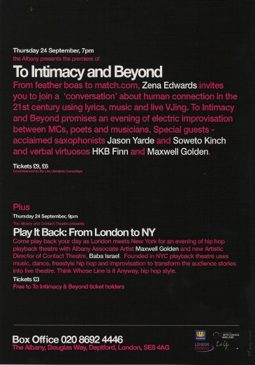 intimacy flyer hard copy back