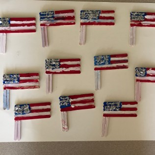 American Flag with Sticks-2