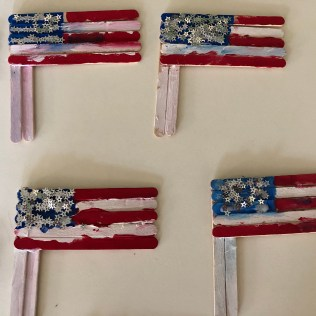American Flag with Sticks-3