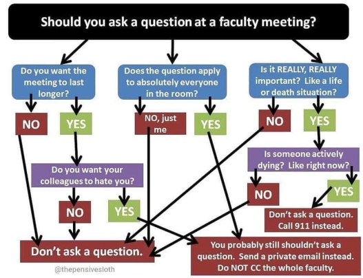 Questions at meetings