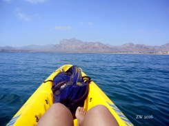 Kayak, azules y yo