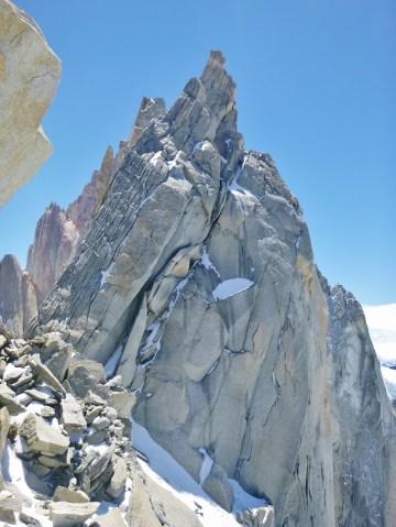 Aguja de la s cara este Chalten Massif