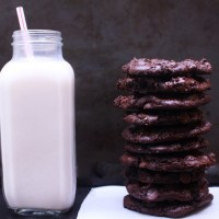 Best Gluten Free Vegan Double Chocolate Chip Cookies (Oil Free, GF)