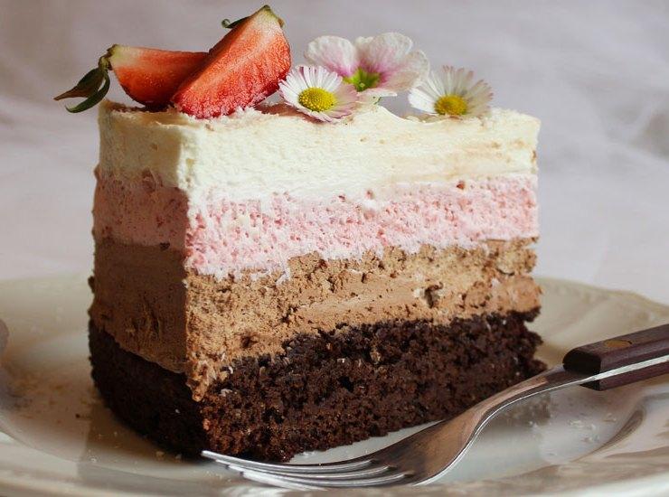 čokoladna mousse torta s jagodama