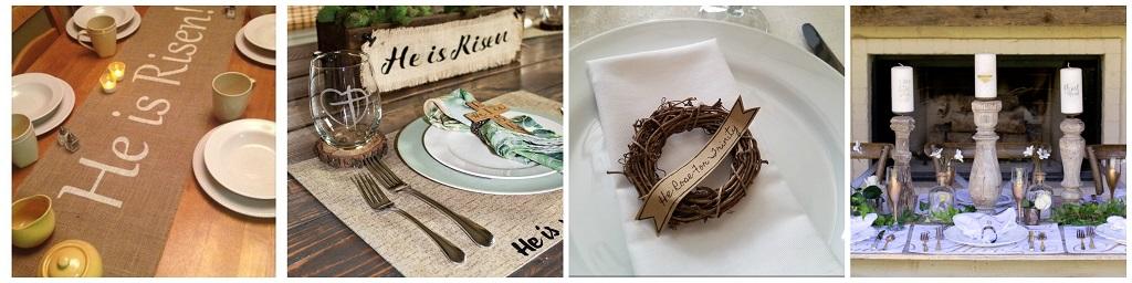 uskršnje dekoracije, uređenje blagdanskog stola