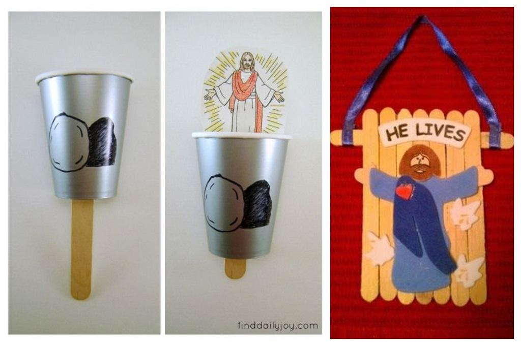 uskršnje dekoracije, dječji radovi, štapići za pregled grla