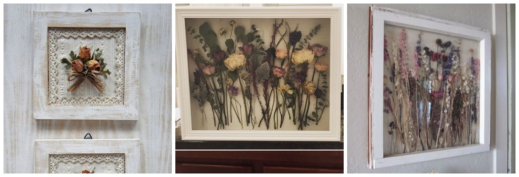 suho cvijeće u okviru