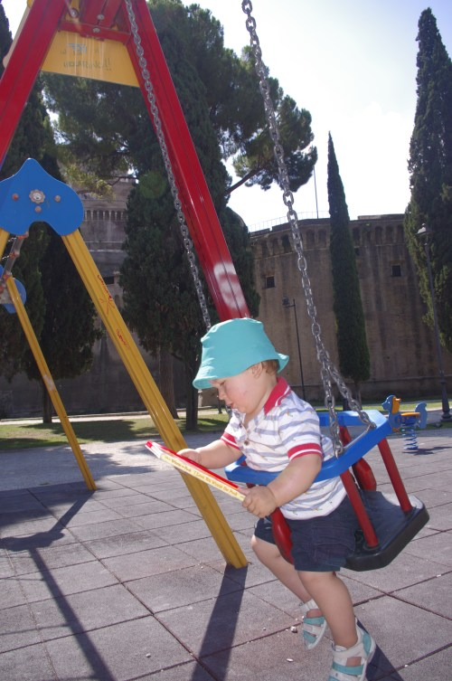 Rome with toddler : playground by Il Castello