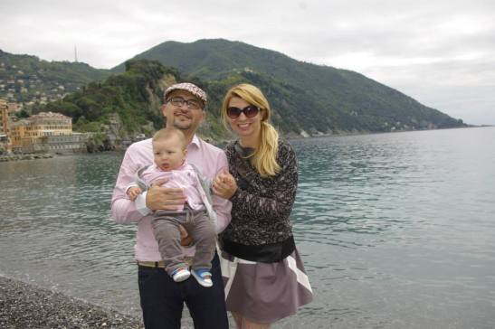 Camogli with baby