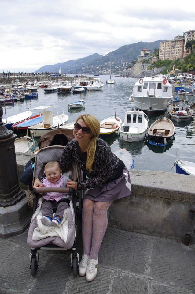 Camogli with baby - harbour