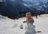 Chamonix ski with toddler