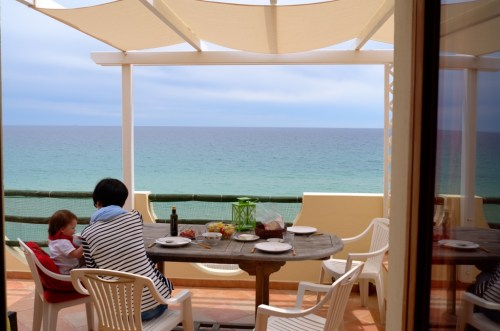 A week in Sardinia with toddler - lunch on the terrace